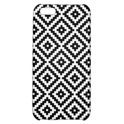 Aztec Symbol Block Ptn Black White I Iphone 5c Case Black Gifts
