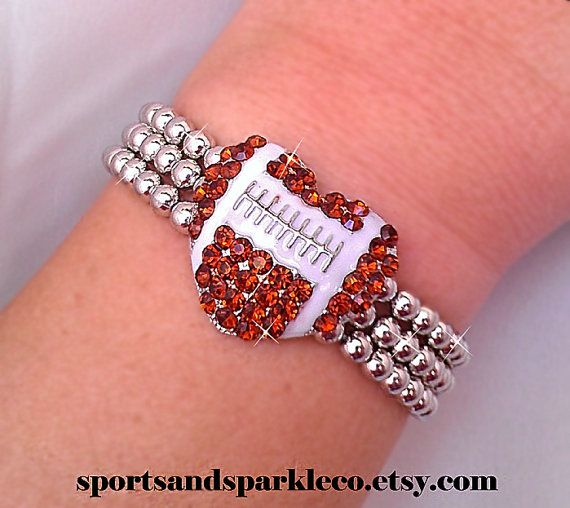 Hey, I found this really awesome Etsy listing at https://www.etsy.com/listing/169169386/sporty-rhinestone-crystal-football-heart