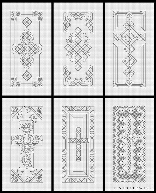 Blackwork Crosses- | Blackwork collection | Bordado, Punto de cruz ...