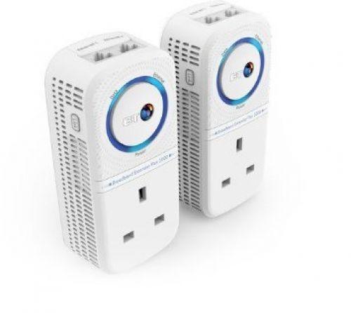 BT Broadband Extender Flex 1000 Kit, Powerline Adapter 4K streaming Twin pack