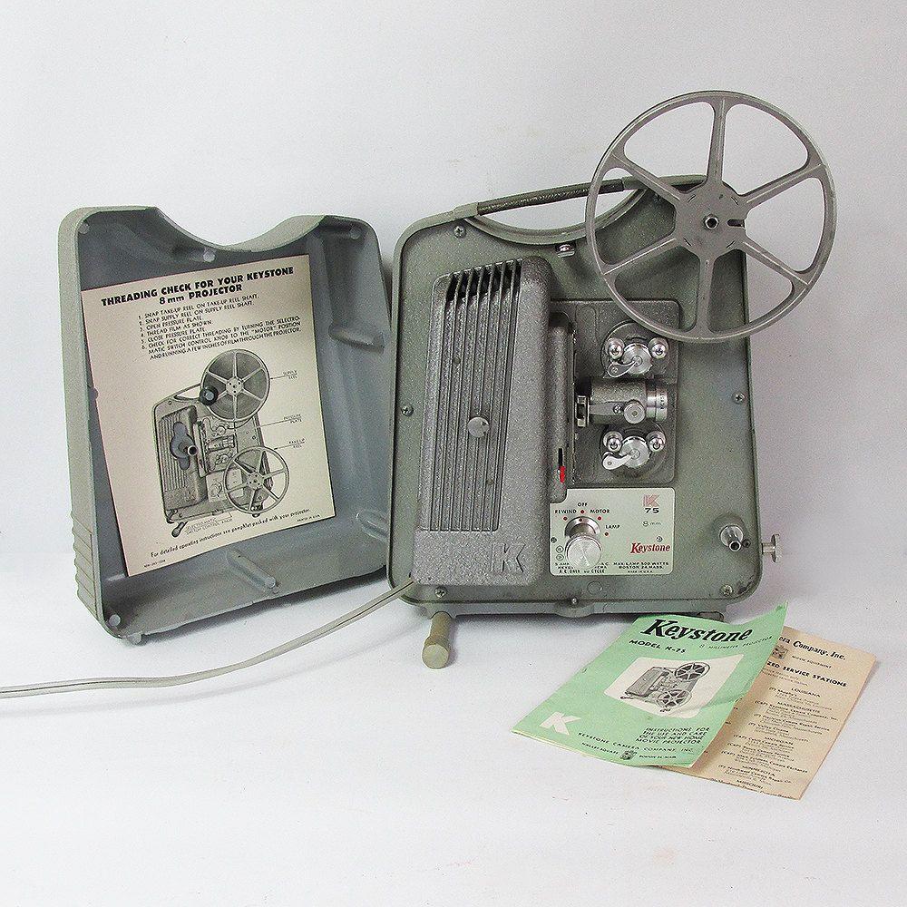 Working Mid Century Keystone K-75 8mm Movie Projector by