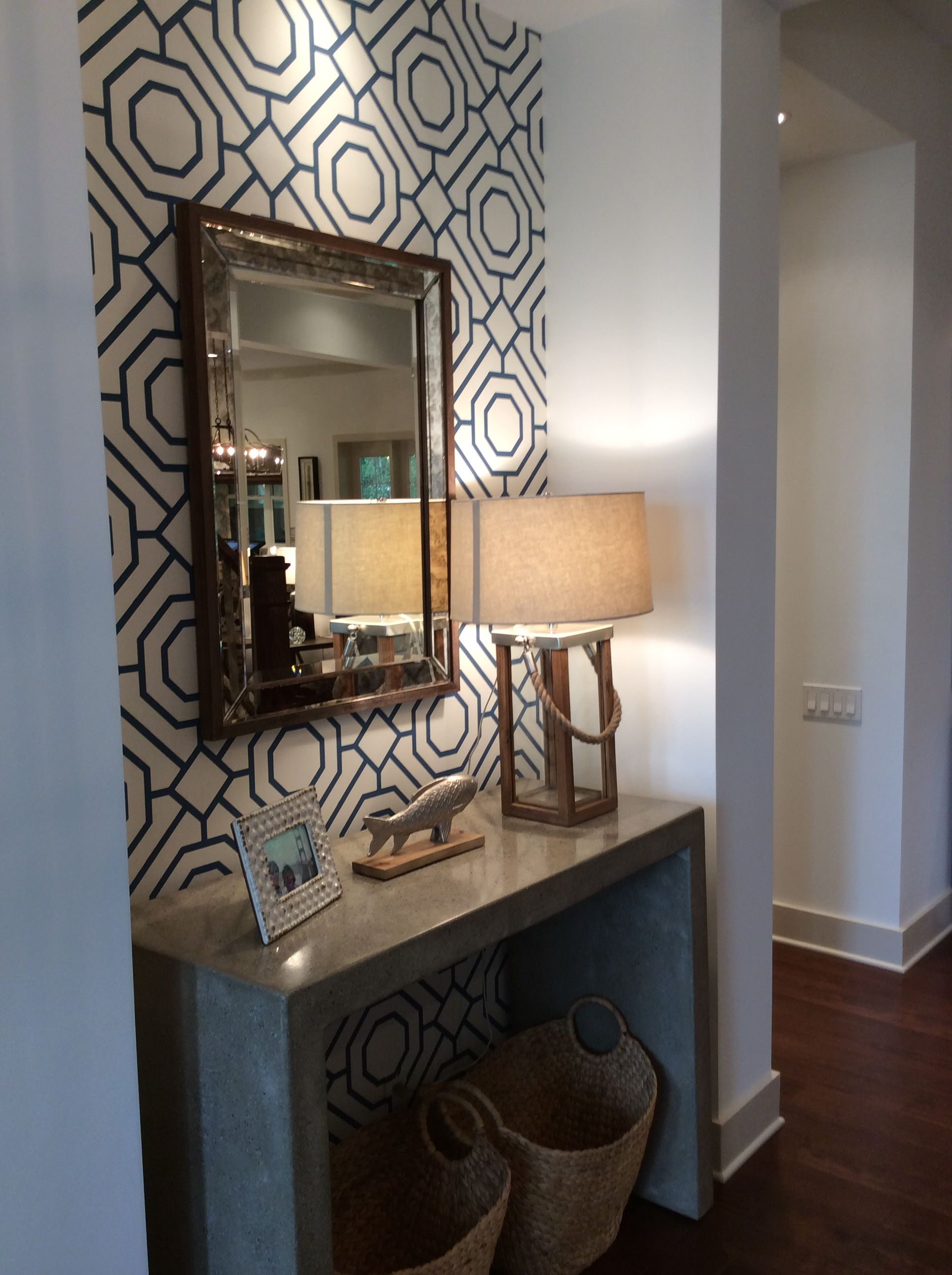 Decorating A Wall With A Large Mirror