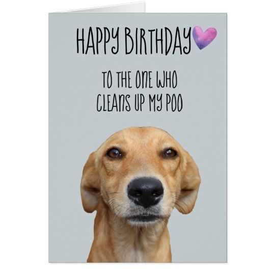 Happy Birthday From The Dog Funny Humor Card Zazzle Com In 2020 Dog Birthday Quotes Happy Birthday Dog Dog Birthday Card