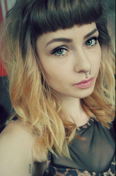 Shoulder length ombre hair | Colorful Hair | Shoulder length ...