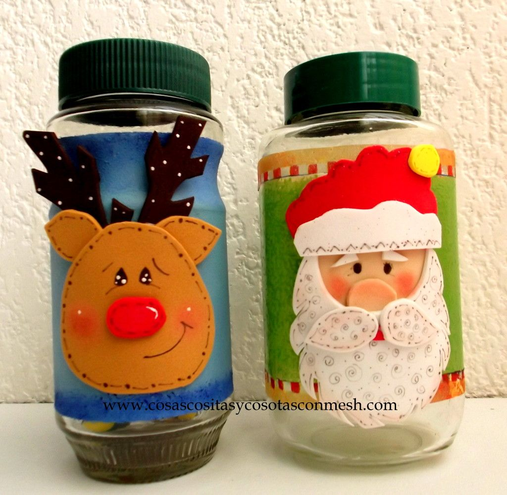 Frascos de vidrio decorados con foami buscar con google - Frascos de vidrio decorados ...