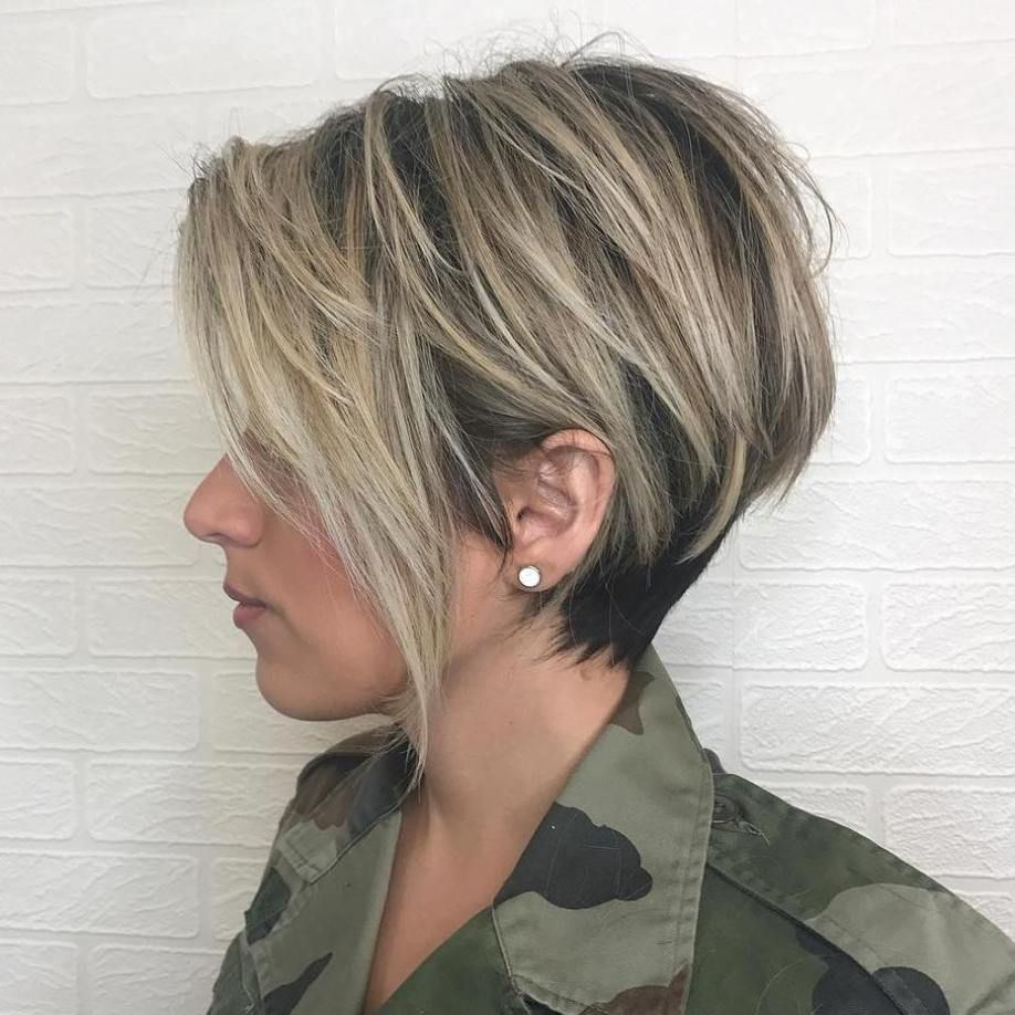 short shaggy spiky edgy pixie cuts and hairstyles balayage