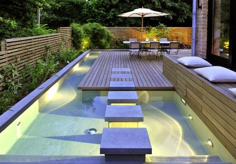 Mini Spa Design For Small Terraced Houses Small House Garden