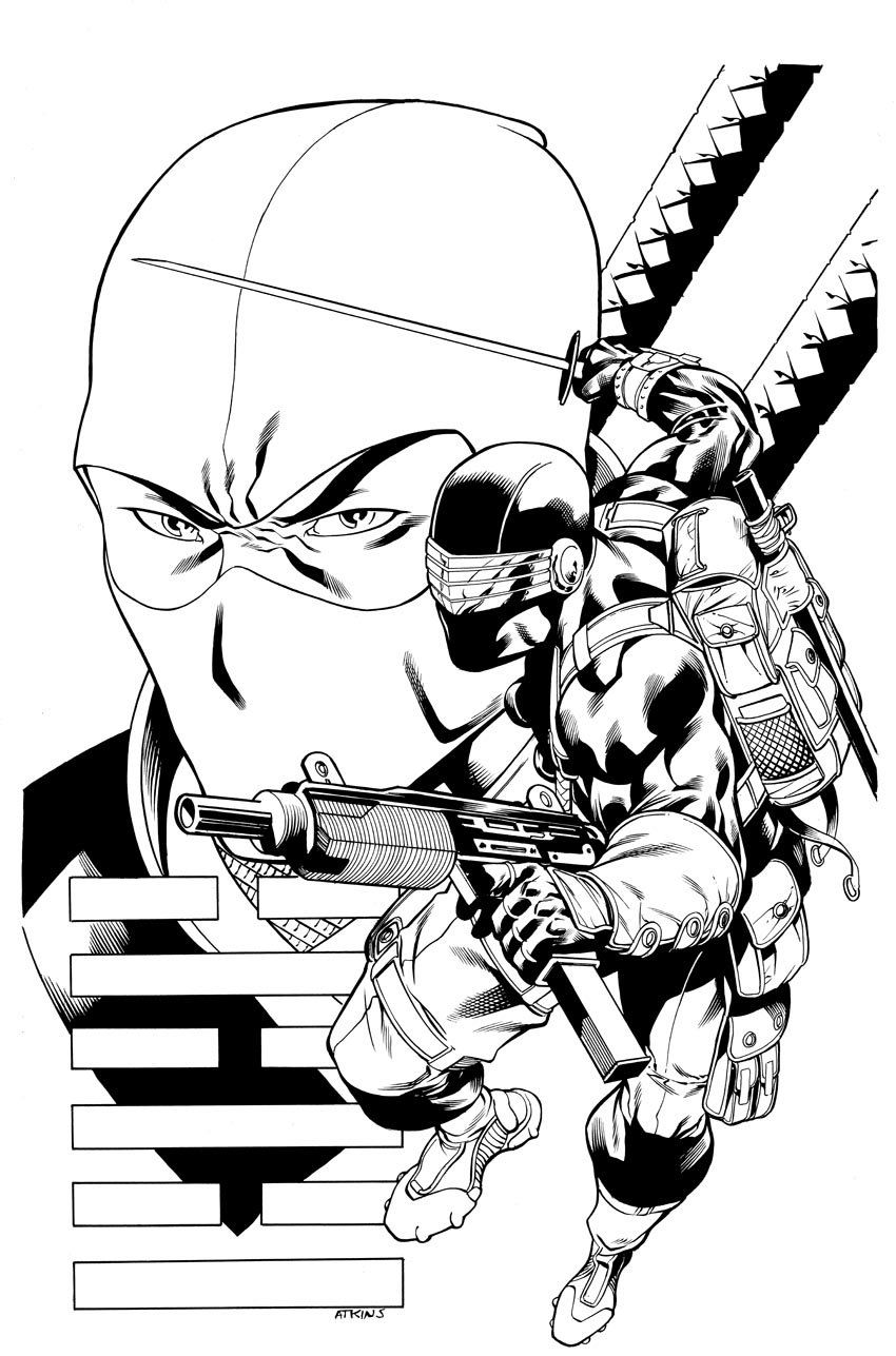 Gi Joe Print Snake Eyes By Robertatkins On Deviantart Gi Joe Coloring Pages Coloring Pages For Kids