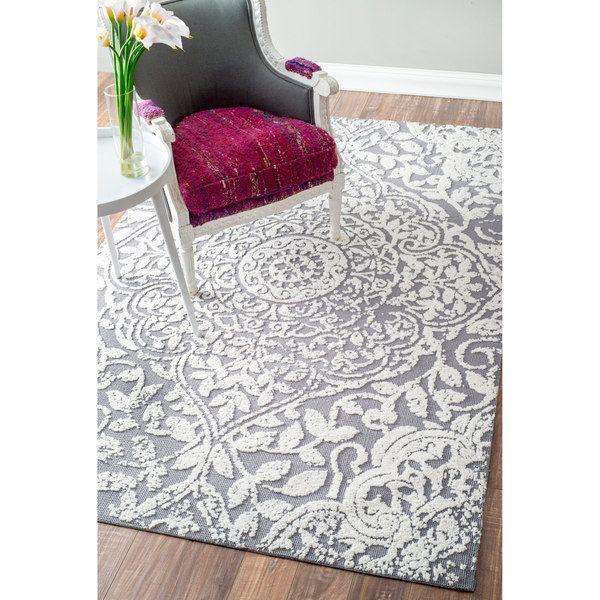 nuloom modern vintage fancy floral grey rug 4u0027 x 6u0027 by nuloom