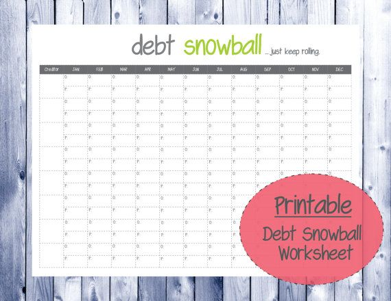 Debt snowball worksheet Pinterest Snowball, Debt and Etsy - debt calculator spreadsheet