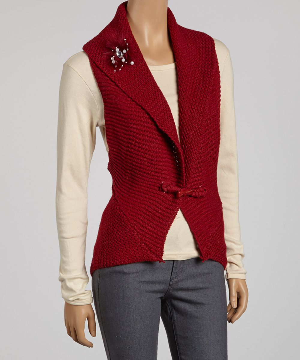 Embellished Sweater Vest - okay maybe I'm getting old, but I love ...