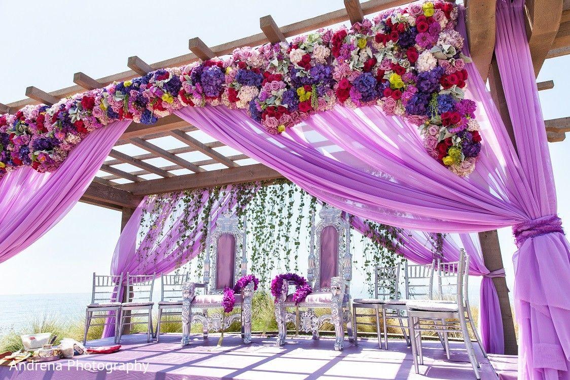 Ceremony decor mandaps pinterest weddingideas wedding ceremony decor in rancho palos verdes indian fusion wedding by andrena photography junglespirit Gallery