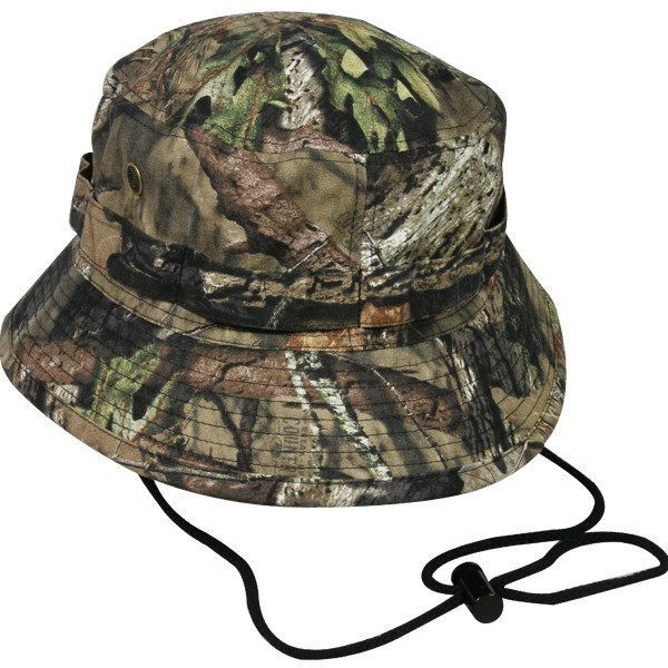 47878512 Our camo bucket hat is very popular for fishing and hunting in sunny  weather. Material