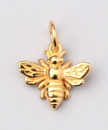 df7b112406d83 Take a look at this Gold Bumblebee Charm by Jenny Present on #zulily ...