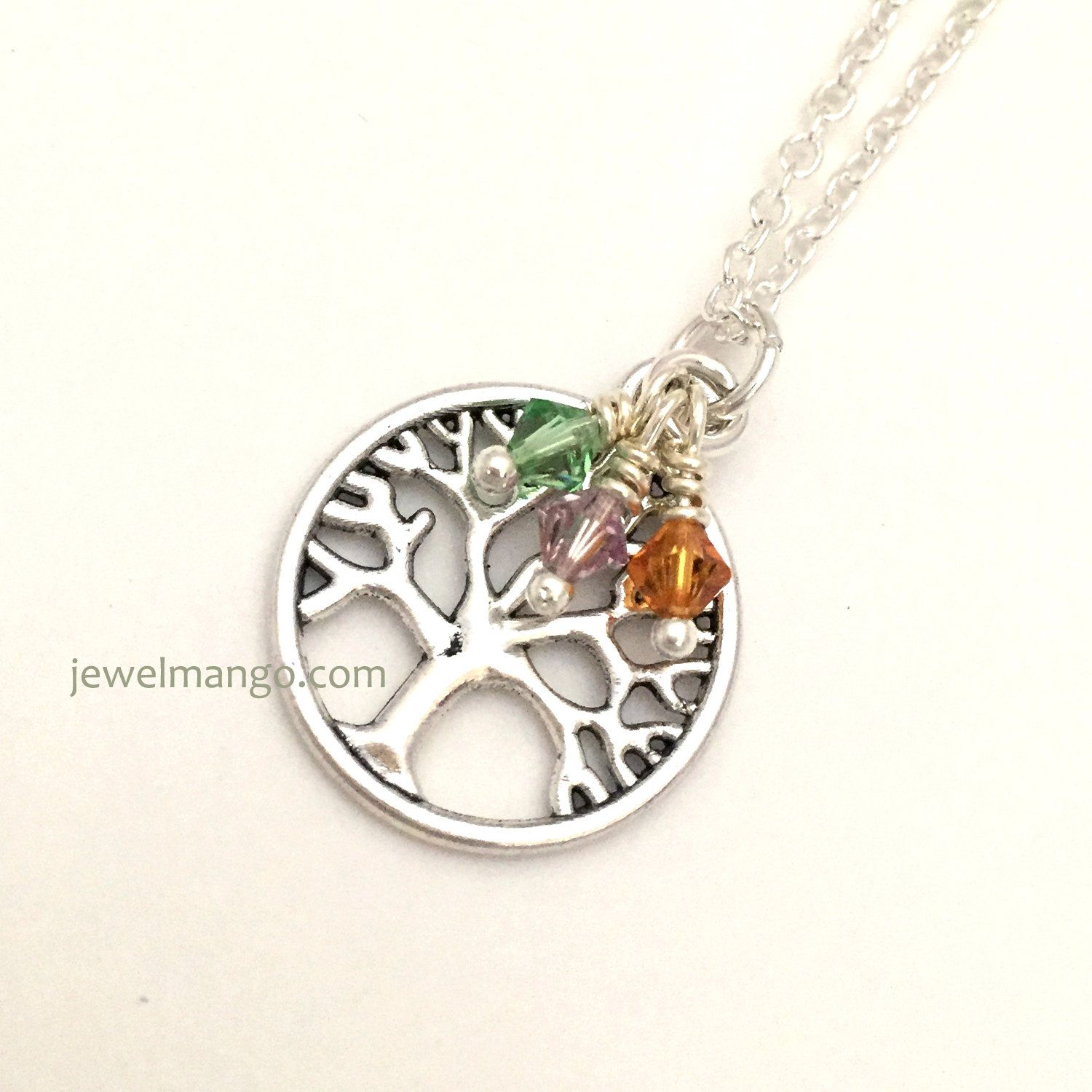 mom gift pin pendant stone day gifts mother family birth necklace personalized tree mothers swarovski
