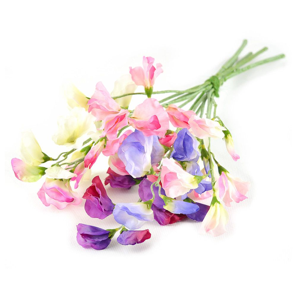 Artificial silk flower bouquet sweet pea mix silk flower artificial silk flower bouquet sweet pea mix mightylinksfo Gallery