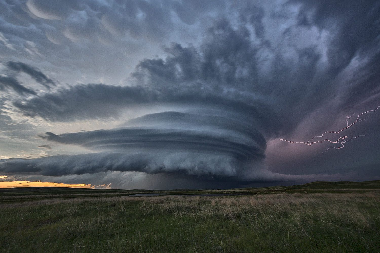 Stunning Supercell Thunderstorm Over The Sandhills Of