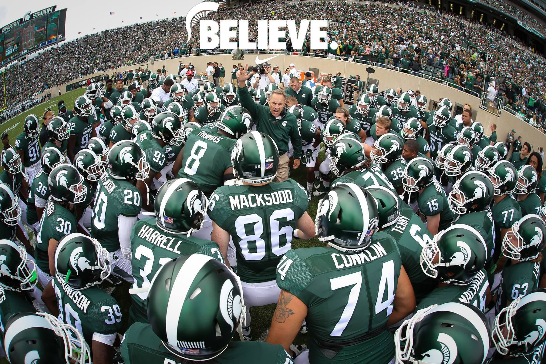 Pin By Robyn Aitken On State Go Green Best College Football Team Ever Etc Michigan State Football Michigan State University Michigan State