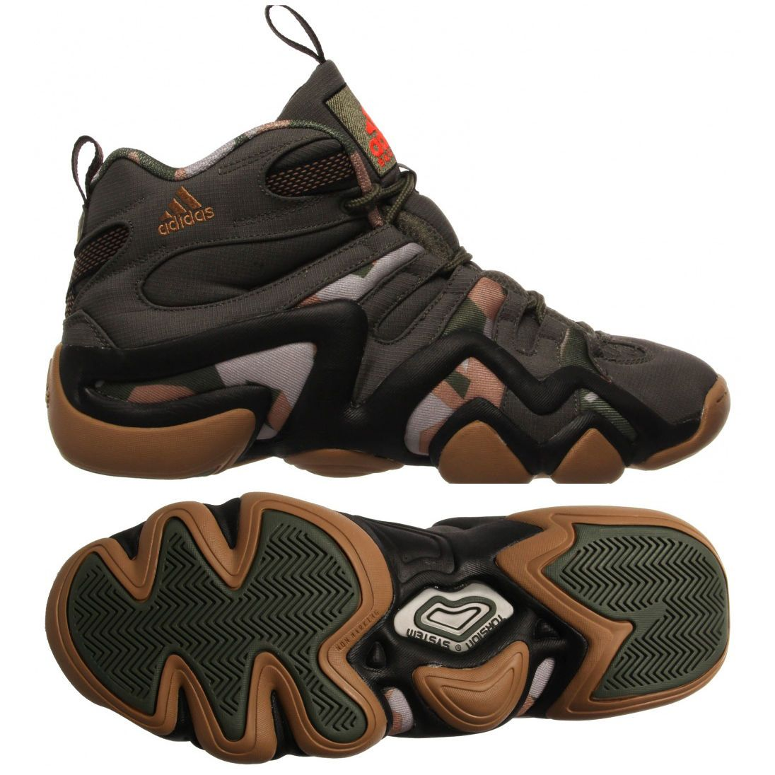 36849ba1fc64 ADIDAS CRAZY KOBE 8 CAMO BASE GREEN CORE BLACK CARDBOARD S84003  120 ...