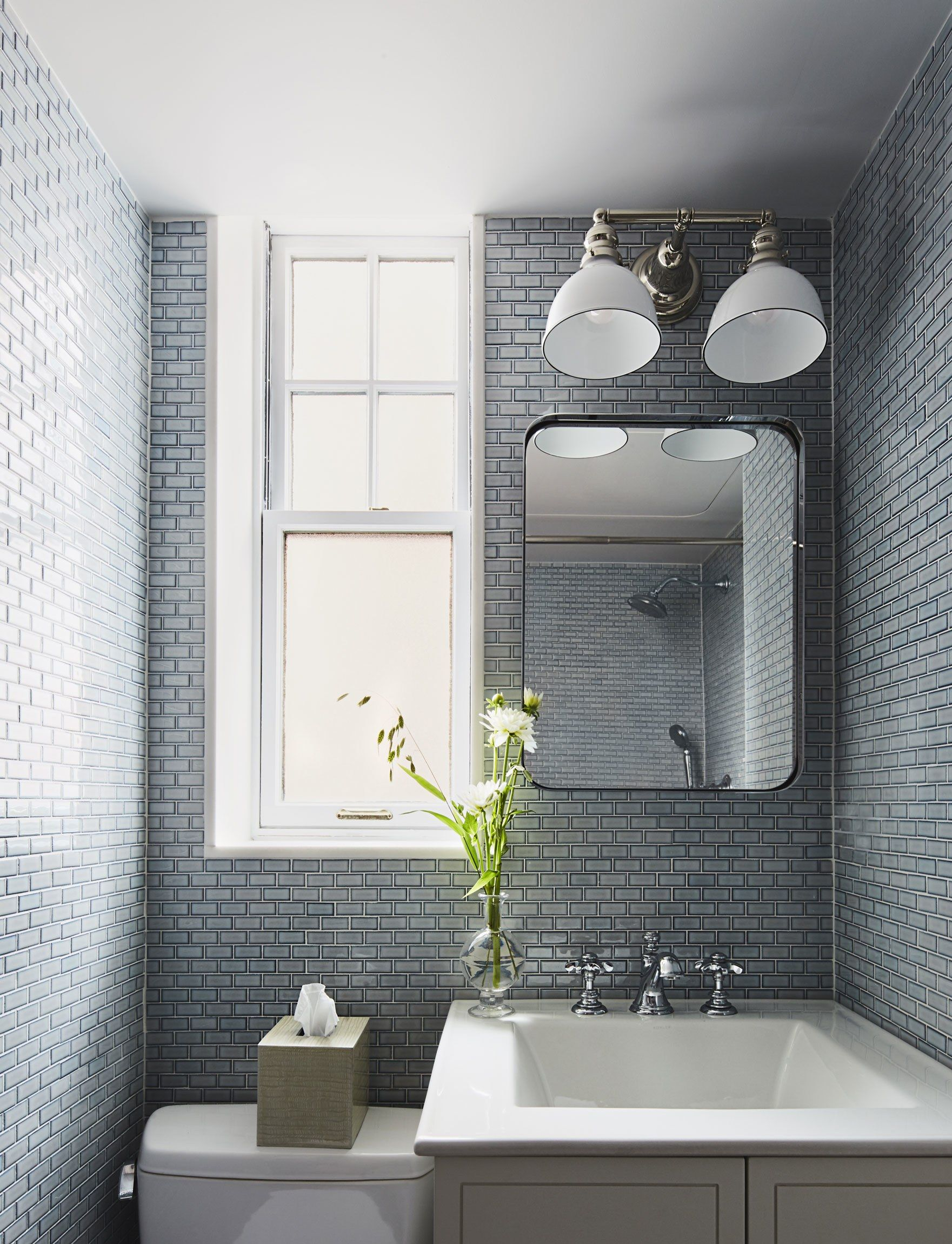 This Tile Trick Is A Game Changer For Small Bathrooms Bathroom