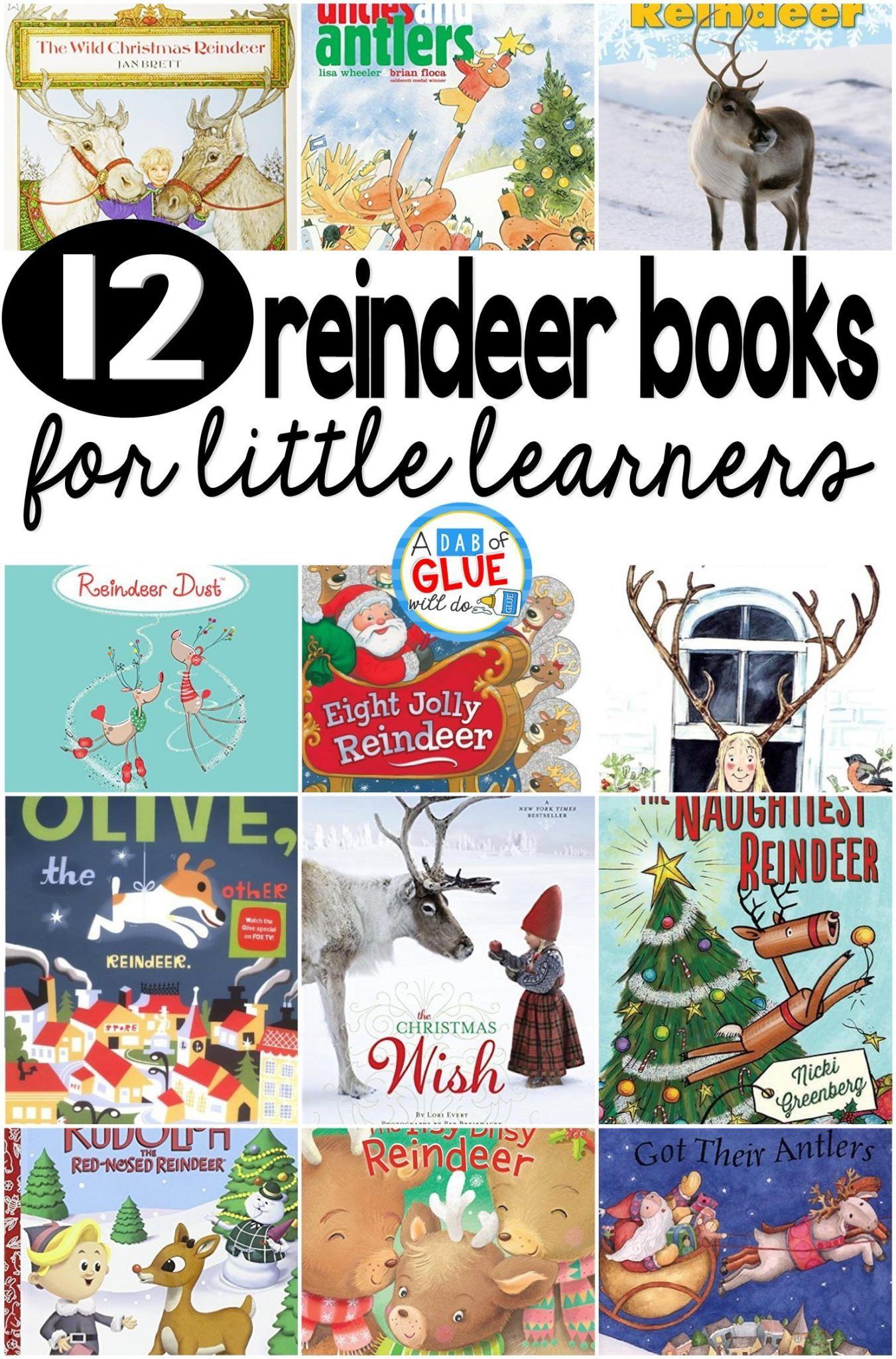 12 Reindeer Books For Little Learners