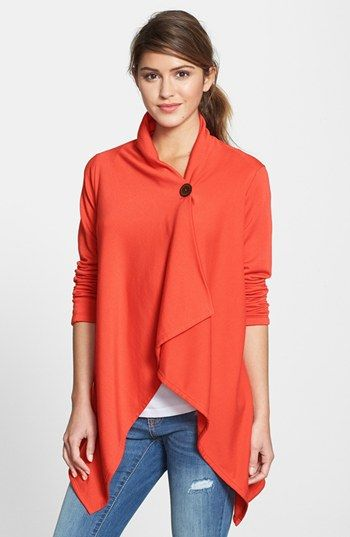 5b7db399864 My favorite cardigan EVER: Bobeau Asymmetrical Fleece Wrap Cardigan ...
