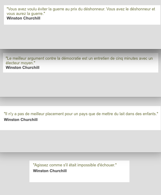 citations françaises de Churchill