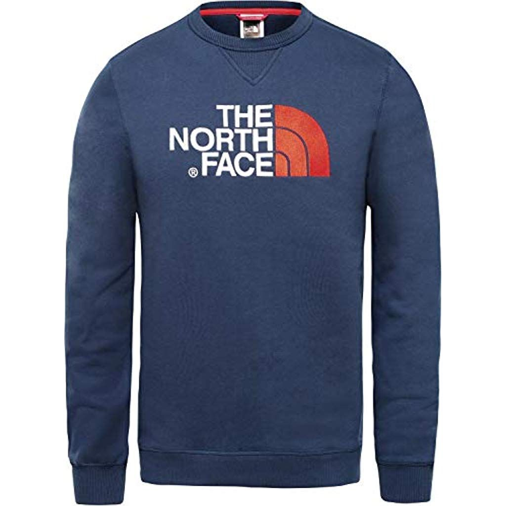 eba2464c2a The North Face M Drew Peak Crew-EU Urban Navy/Fiery Red Pull Homme ...