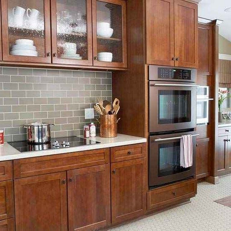 30+ Admirable Cherry Wood Cabinets Kitchen | Cherry wood ...