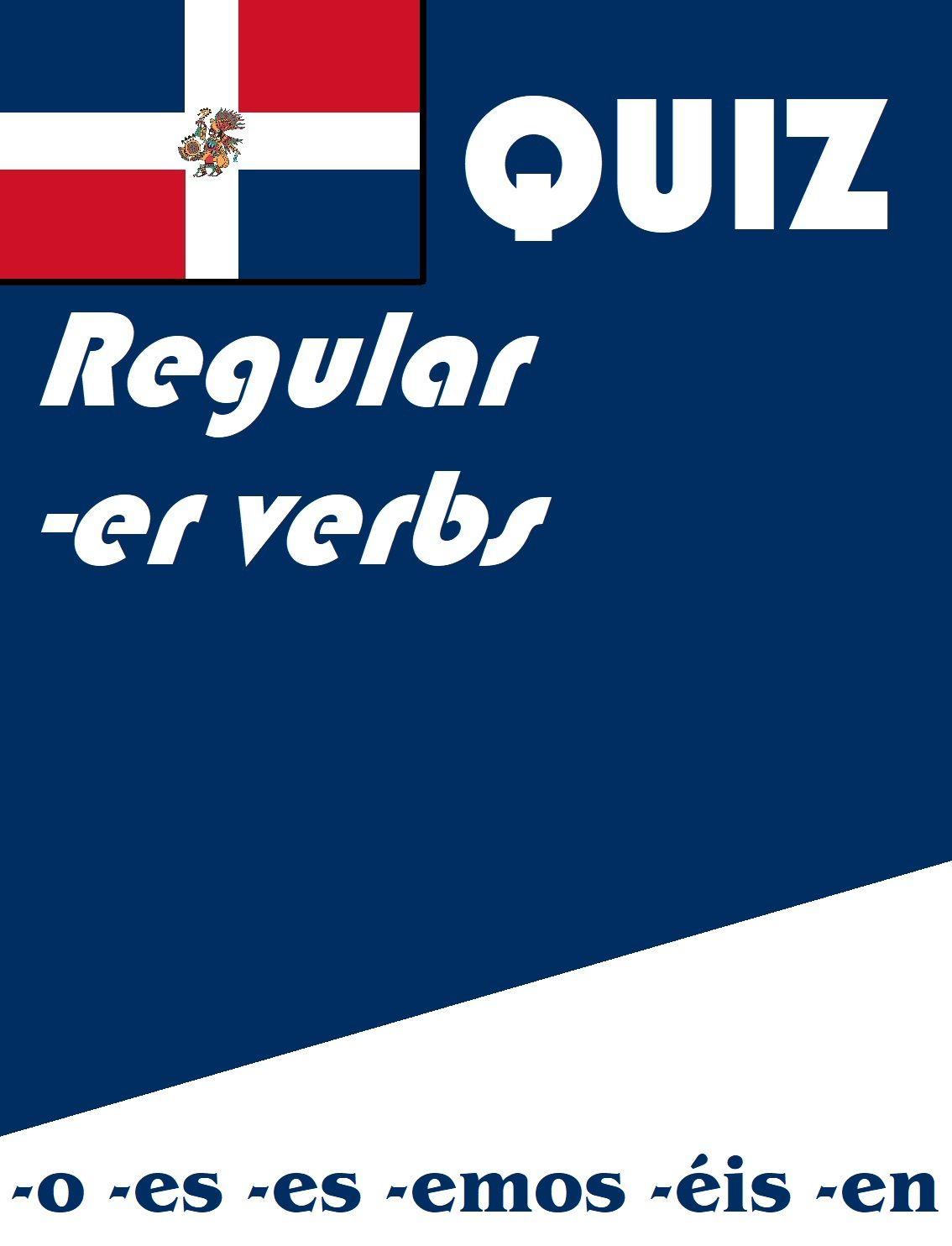 Spanish Regular Er Verb Present Tense Quiz Or Worksheet