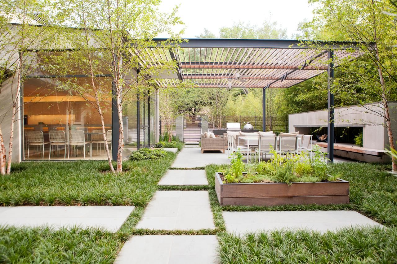 7 of our favorite outdoor cooking and dining areas herb planters