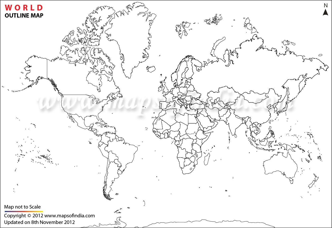 World Map Black And White With Country Names At