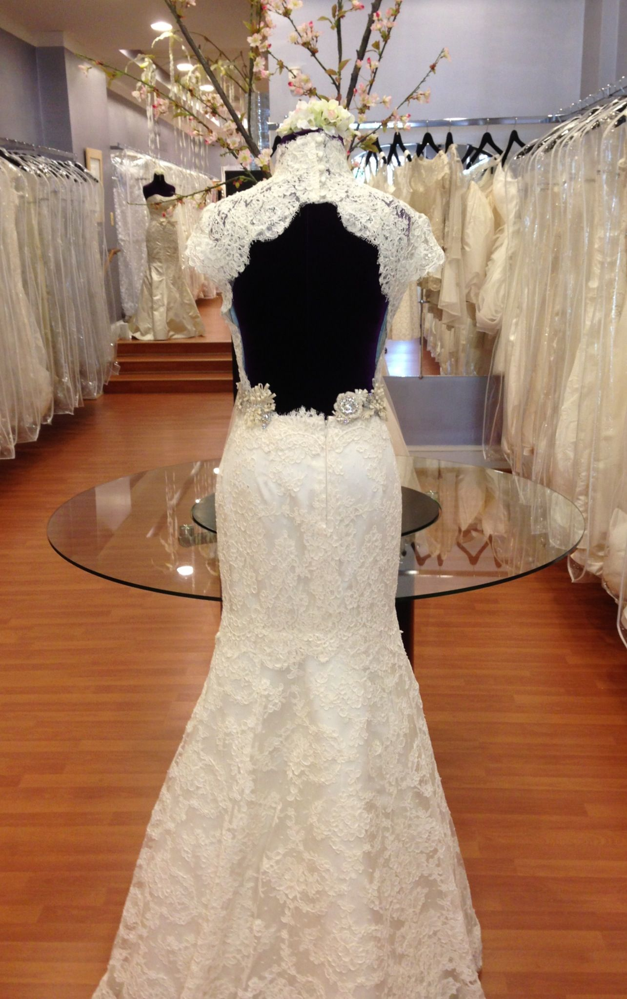 One of a kind wedding dresses  All French lace wedding dress with the keyhole back Oneofakind