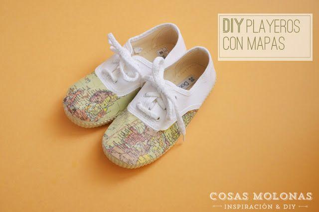 DIY... playeras con mapas ( map sneakers) - Handbox | Craft Lovers