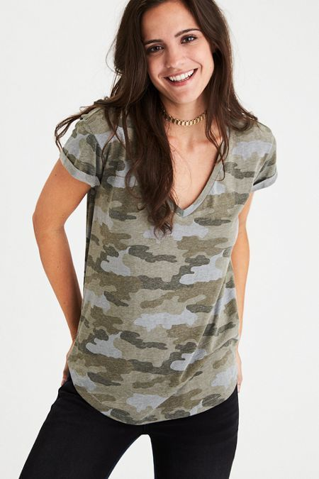 9bfa43ed American Eagle Outfitters AE Soft & Sexy V-Neck Favorite T-Shirt ...