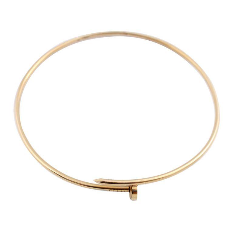 Aldo Cipullo Gold Nail Choker Necklace A hard to find, pre ...