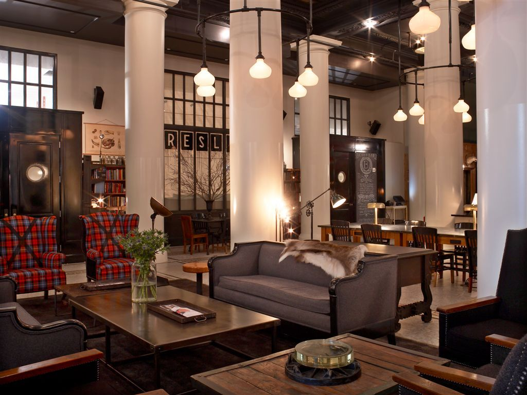 ace hotel nyc lobby designed by roman and williams