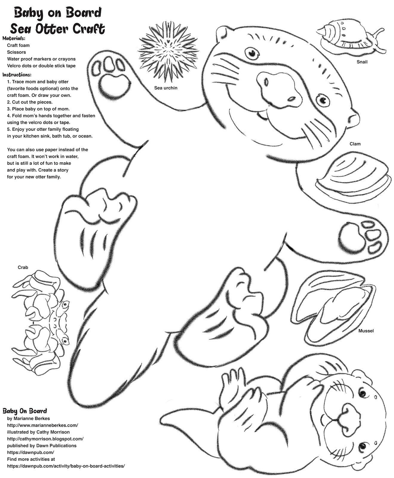 River Otter Printable Coloring Page By Malydrakart On Etsy
