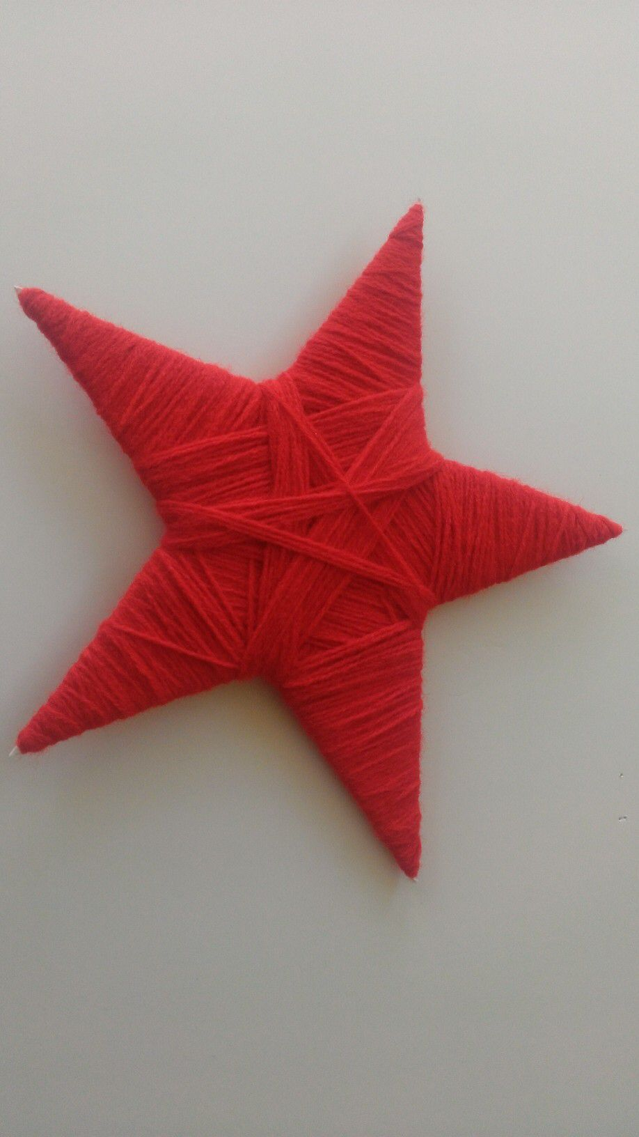 Finished star for Seasalt's knitted Christmas window display.