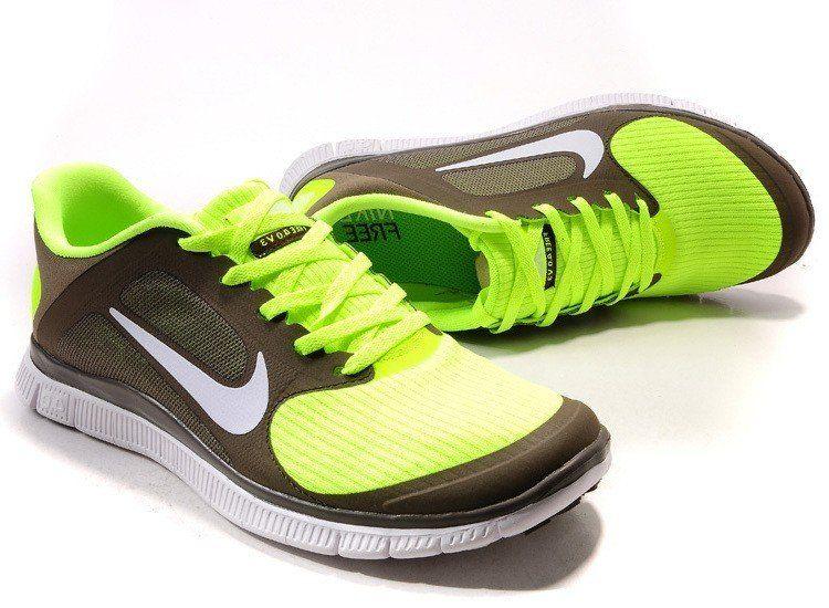 Vente 2015 Femme Running (vert/blanc/brun) Chaussures Nike Free 4.0 AxmP7