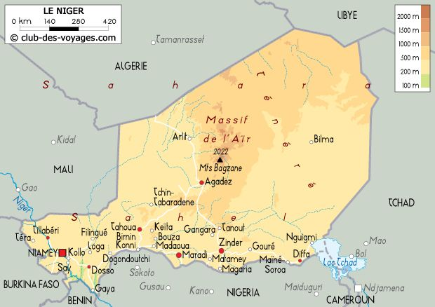 Carte Algerie Niger.Carte Du Niger Cartes Cart Map Et Diagram