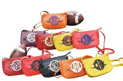 Your Game Day is not complete without one of our MONOGRAMMED cross body bags... you pick the colors, and we'll do the rest!