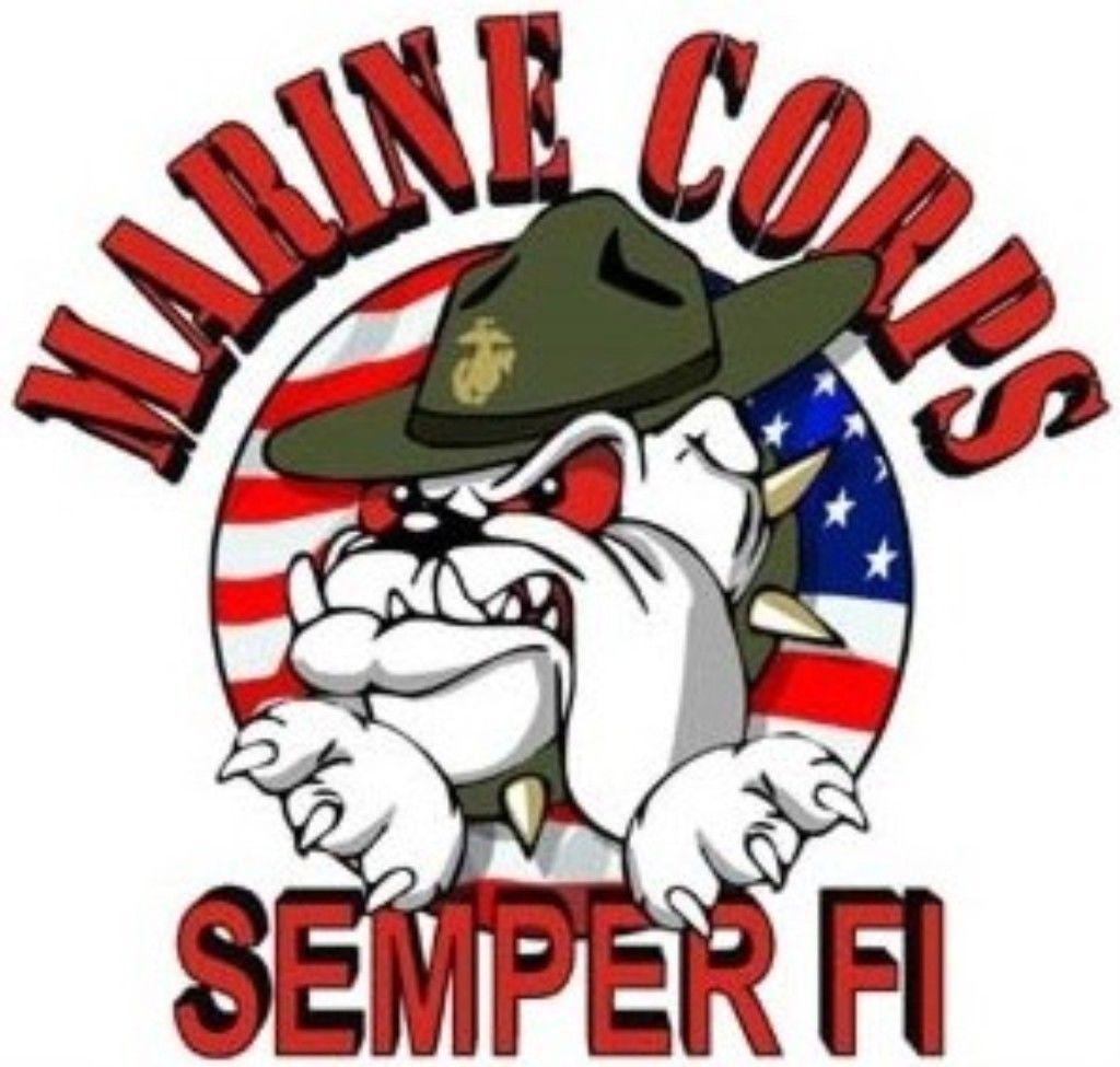 Us Marine Corps Semper Fi Wall Window Vinyl Decal Sticker Military