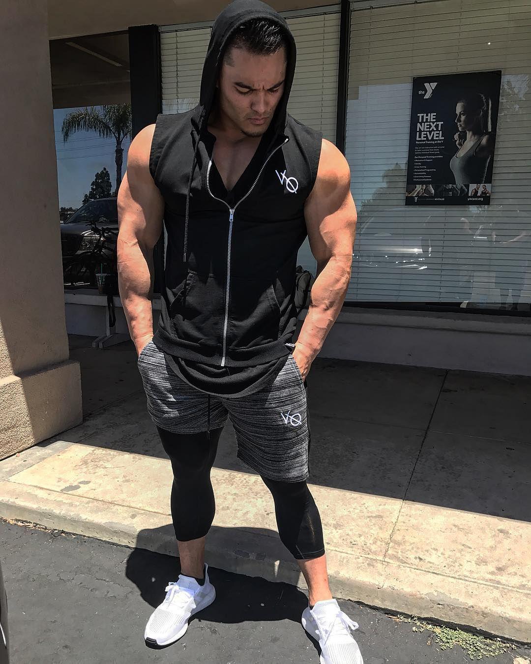 Men/'s GYM Bodybuilding Training Yoga Hooded Sweatshirts Night Running Sportwear