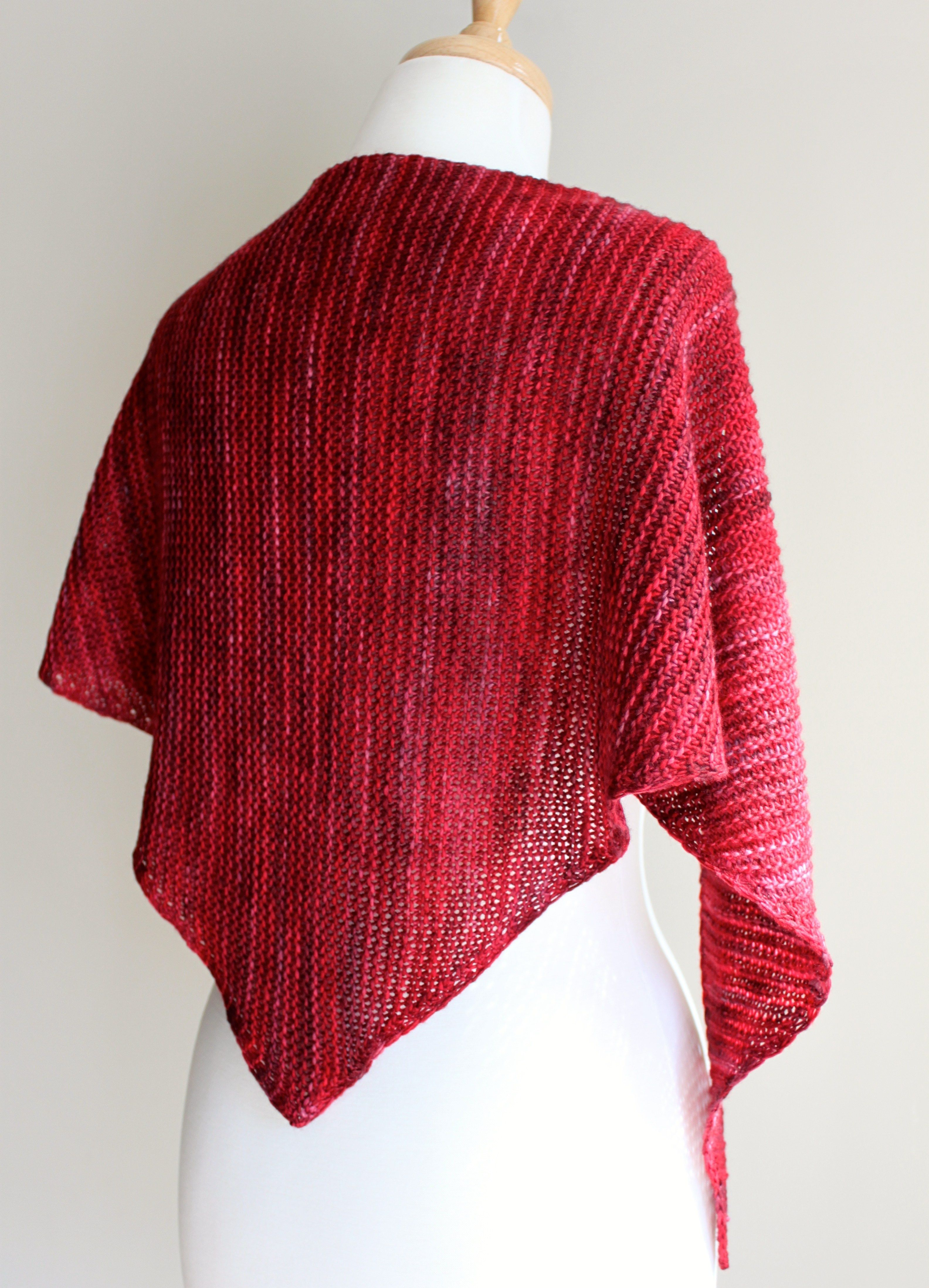 Truly Triangular Scarf full view | Knit | Pinterest | Patrones ...