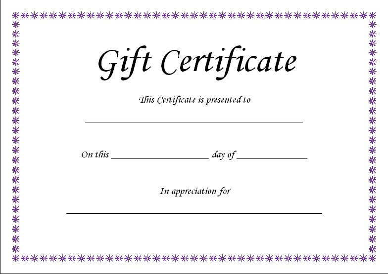 Gift Certificate Template 28 Images Custom Gift Pertaining To Printable Gift C Printable Gift Certificate Gift Certificate Template Word Gift Card Template