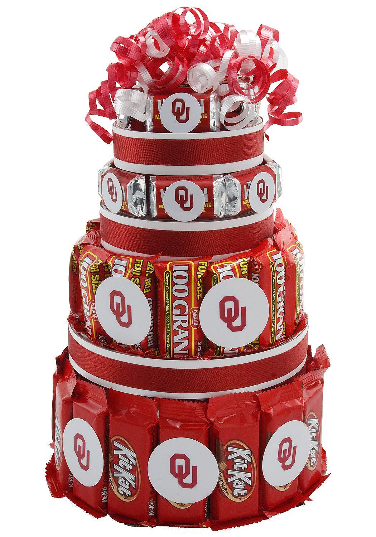 Oklahoma Sooners Candy Cake