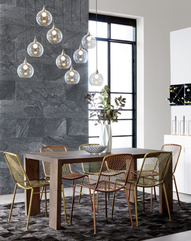 Fly By Nine Modern Chandelier Mark Daniel Suspends Gl Globes From Nickel Finished Iron Canopy Pendants Stagger In Length On Black