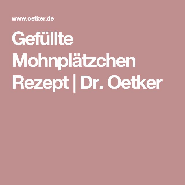 Gefüllte Mohnplätzchen Rezept | Dr. Oetker