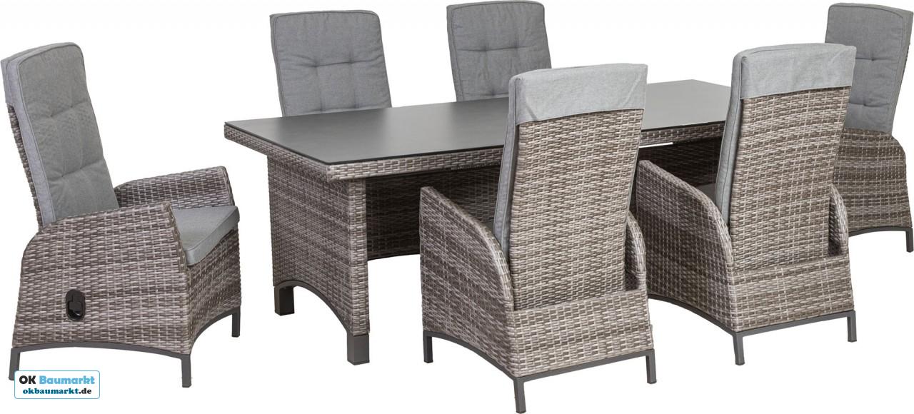Dieses Gemutliche Gartenmobel Set Besteht Aus Sechs Sesseln Einem Dining Tisch Die Angenehme Sitzhohe Ermog Globusb In 2021 Gartenmobel Sets Haus Deko Gartenmobel